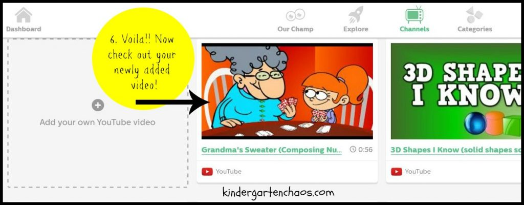 Add your own videos to GoNoodle