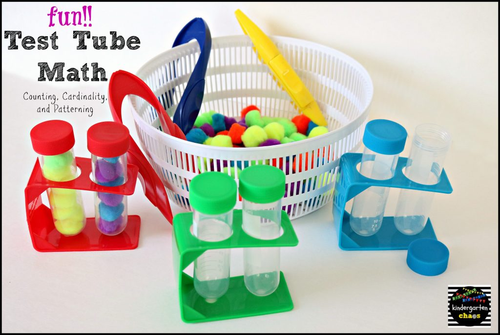 Fun Test Tube Counting and Cardinality - kindergartenchaos.com