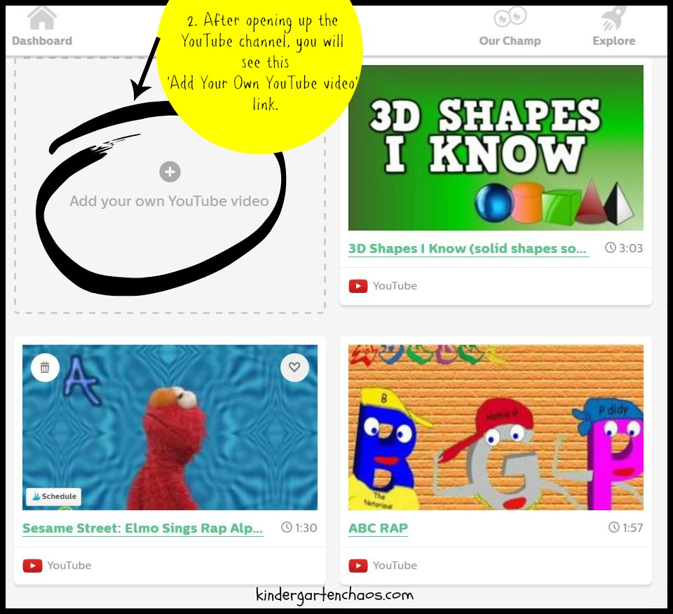 GoNoodle Add Your Own YouTube Video