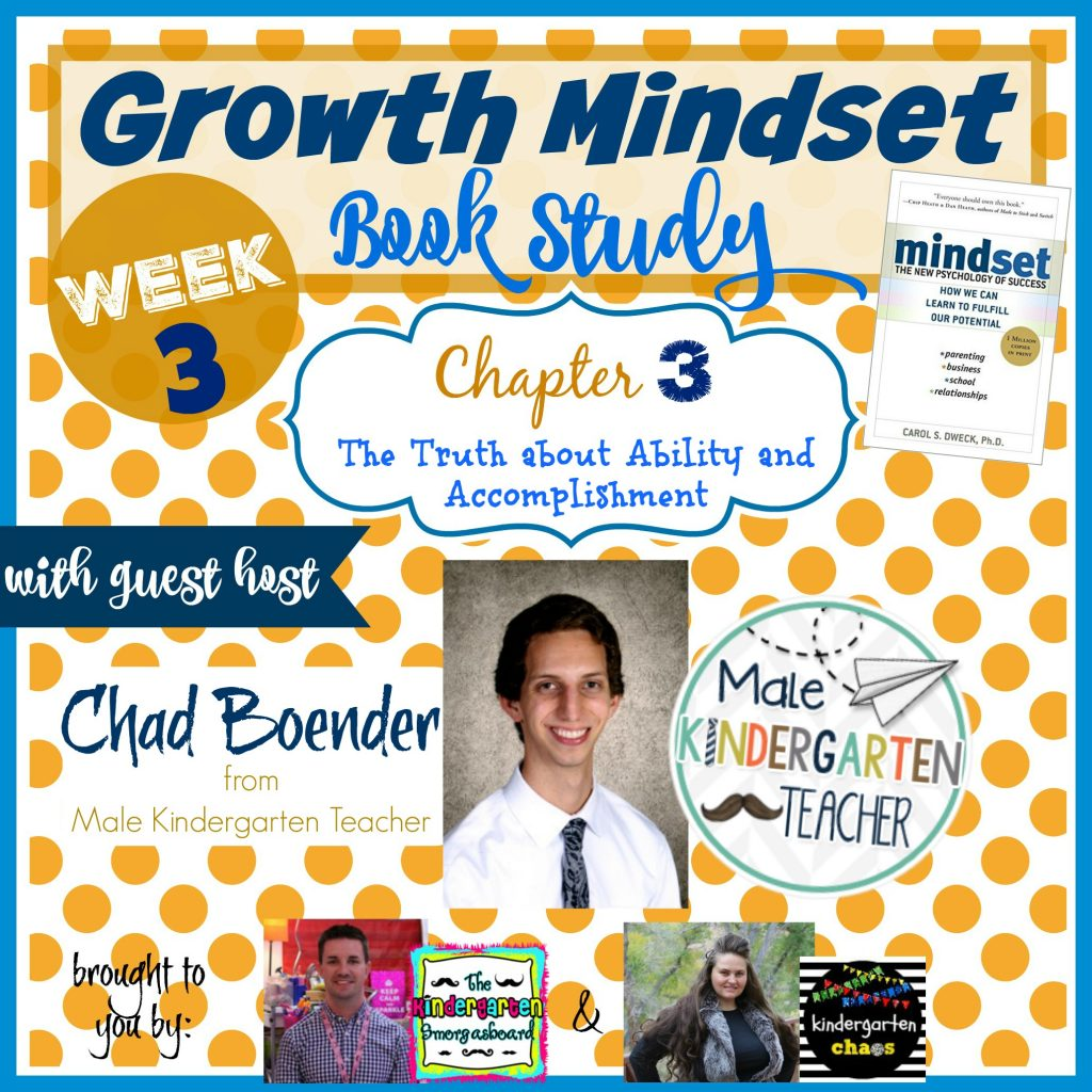 Growth Mindset Book Study with Guest Host Chad Boender Male Kindergarten Teacher