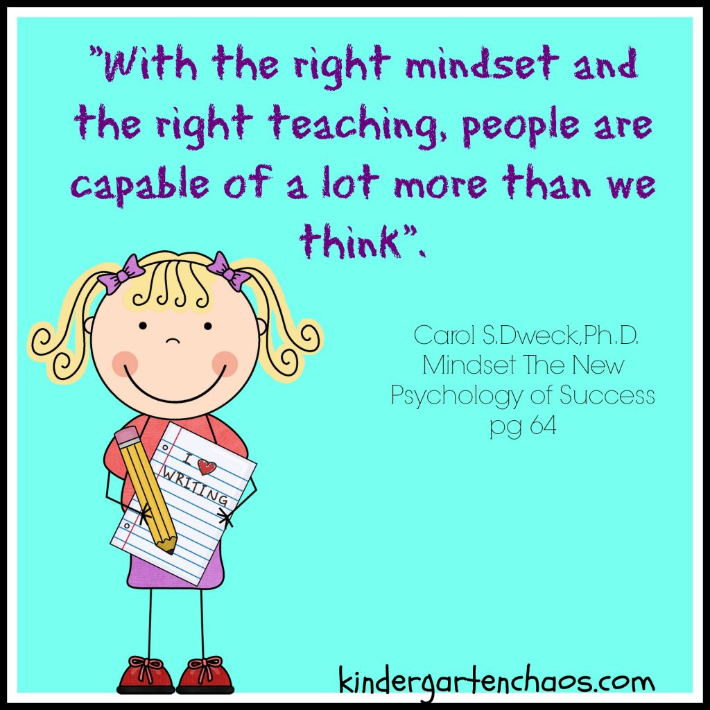 Growth Mindset Quote - All Kids Can Learn - kindergarten chaos