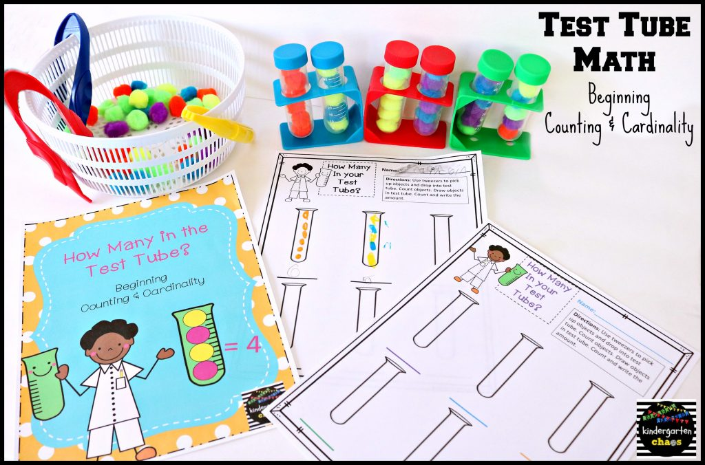 Test Tube Math - Counting and Cardinality - kindergartenchaos.com