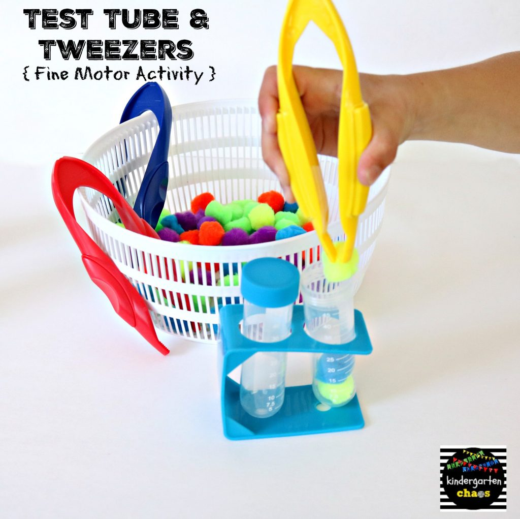 Test Tube & Tweezers Fine Motor Activity - kindergartenchaos.com