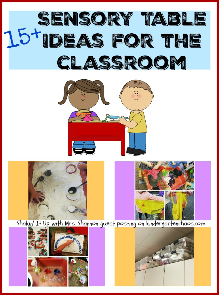 15+ Sensory Table Ideas for the Classroom - kindergartenchaos.com