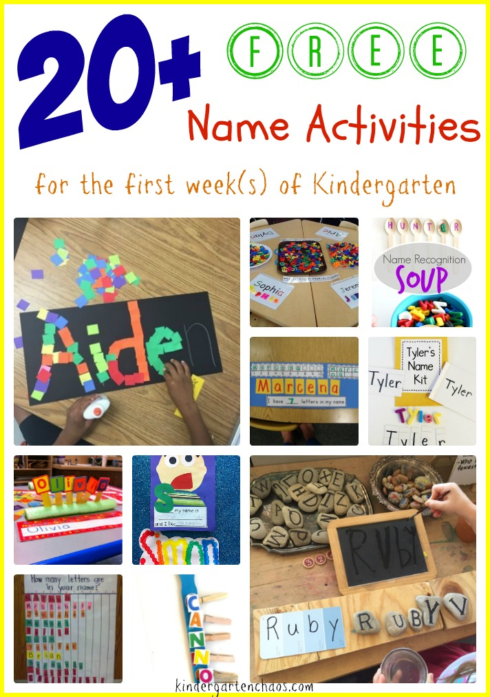 20+ FREE Name Activities for the first week of Kindergarten - kindergartenchaos.com