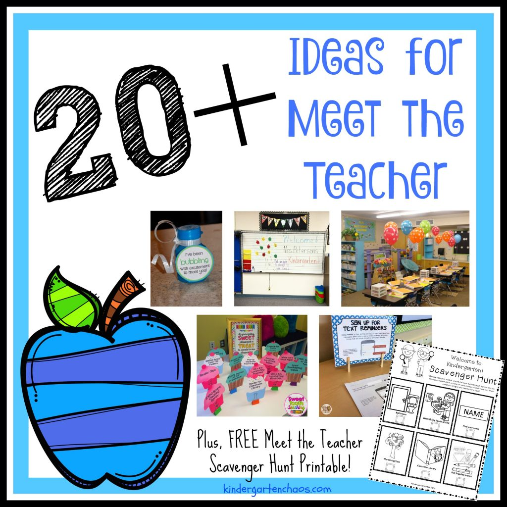 20 plus Ideas for Meet the Teacher - kindergartenchaos.com