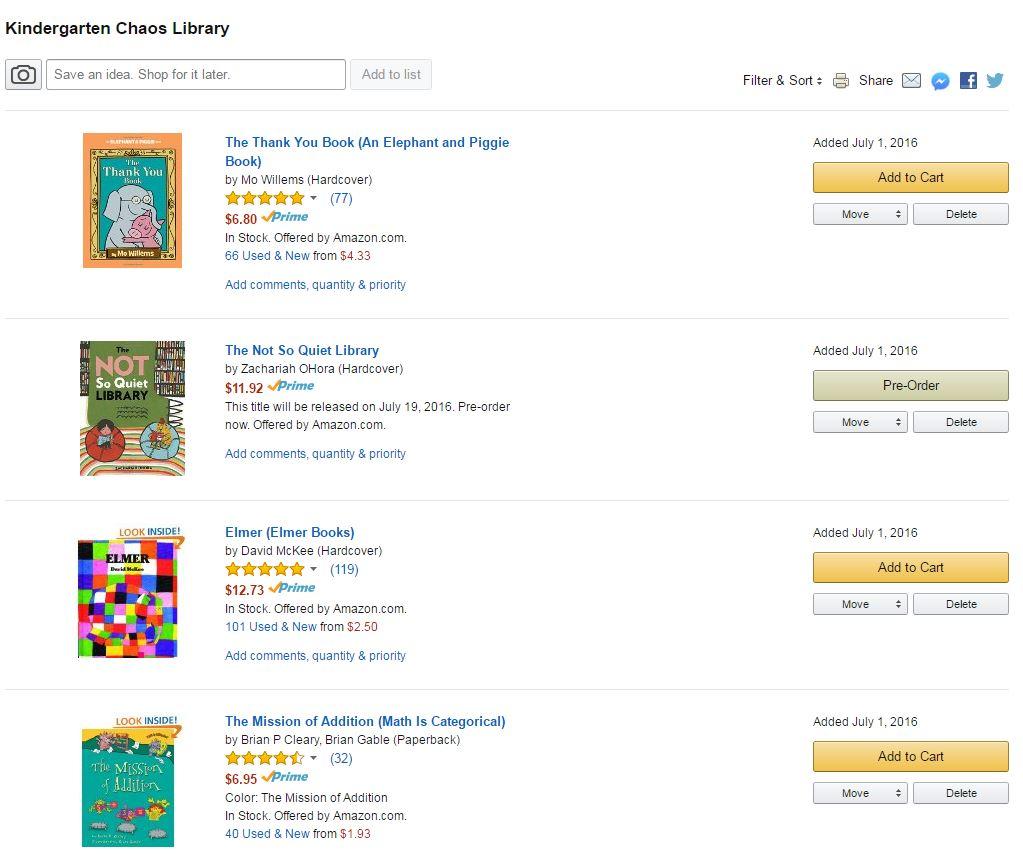 Amazon Custom Library List