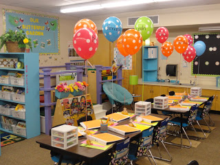 Balloons for Meet the Teacher Day