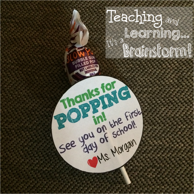 Blow Pop Meet the Teacher Treat