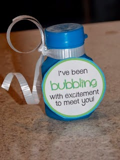 Bubbling with Excitement Meet the Teacher Treat