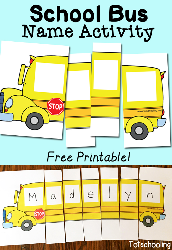 Free School Bus Name Activity