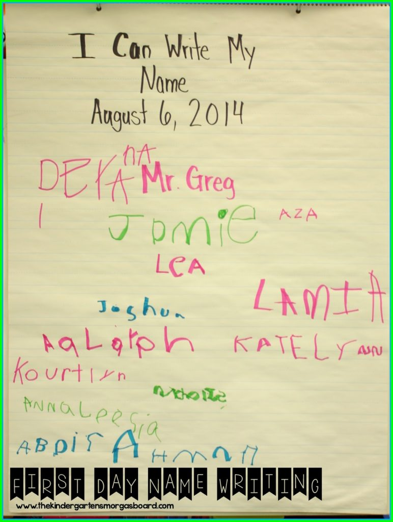 I Can Write My Name Anchor Chart