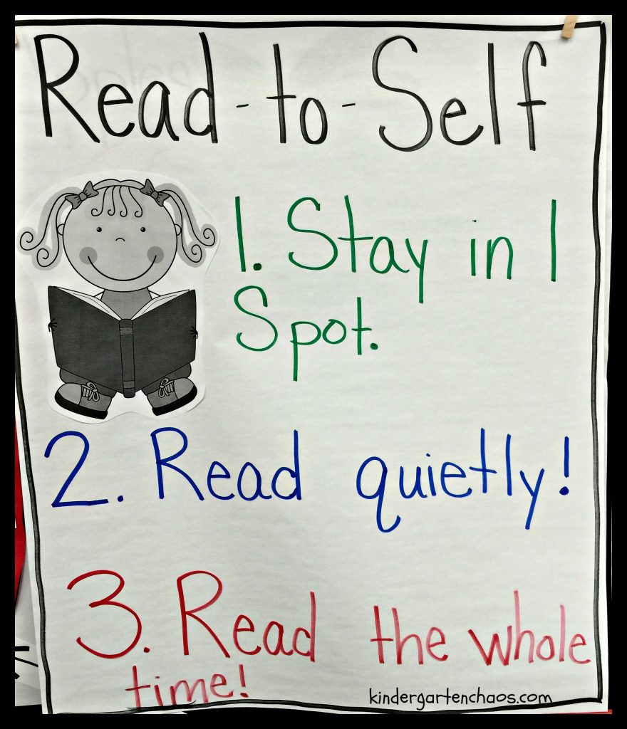 Read to Self Anchor Chart - kindergartenchaos.com