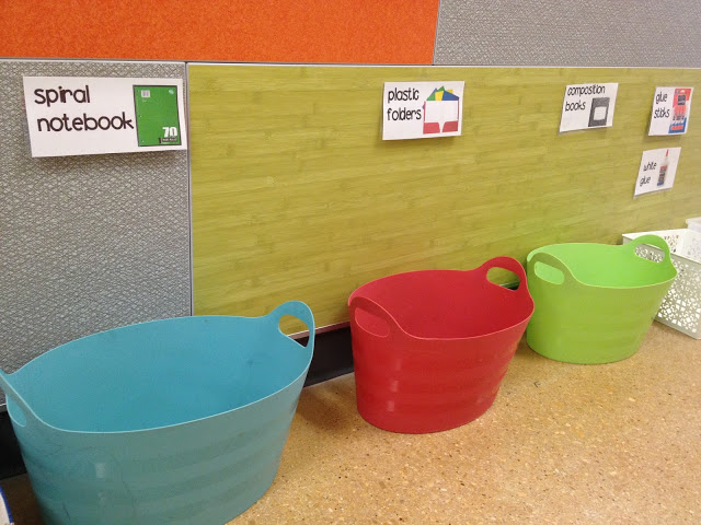 Supply Buckets for Meet the Teacher Day