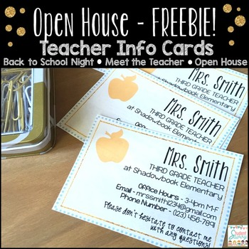 Teacher Info Card