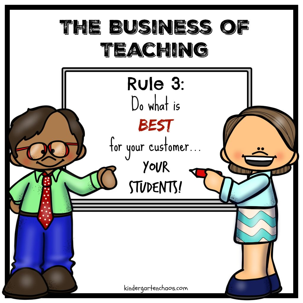 The Business of Teaching -Rule 3 - kindergartenchaos.com