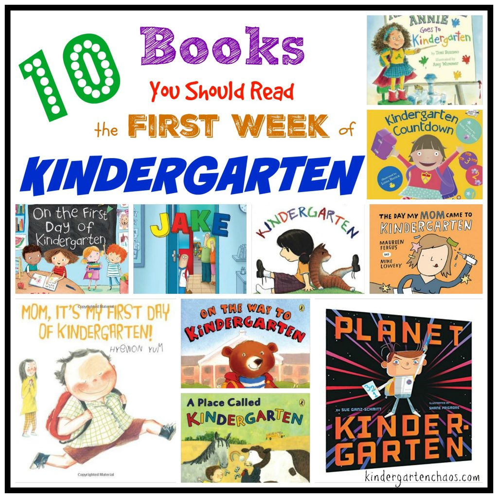 10 Books You Should Read the First Week of Kindergarten - kindergartenchaos.com