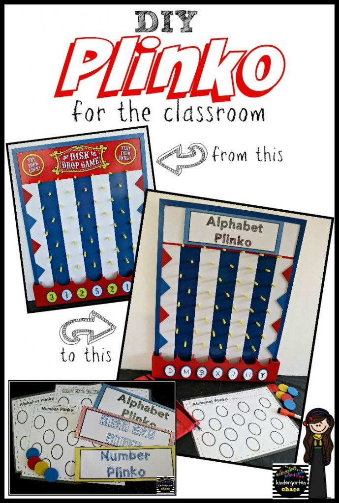 DIY Plinko for the Classroom - kindergartenchaos.com