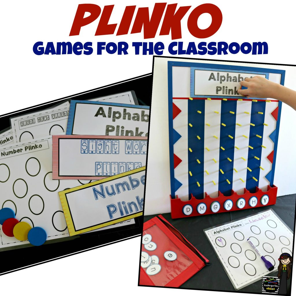Plinko Games for the Classroom - kindergartenchaos.com