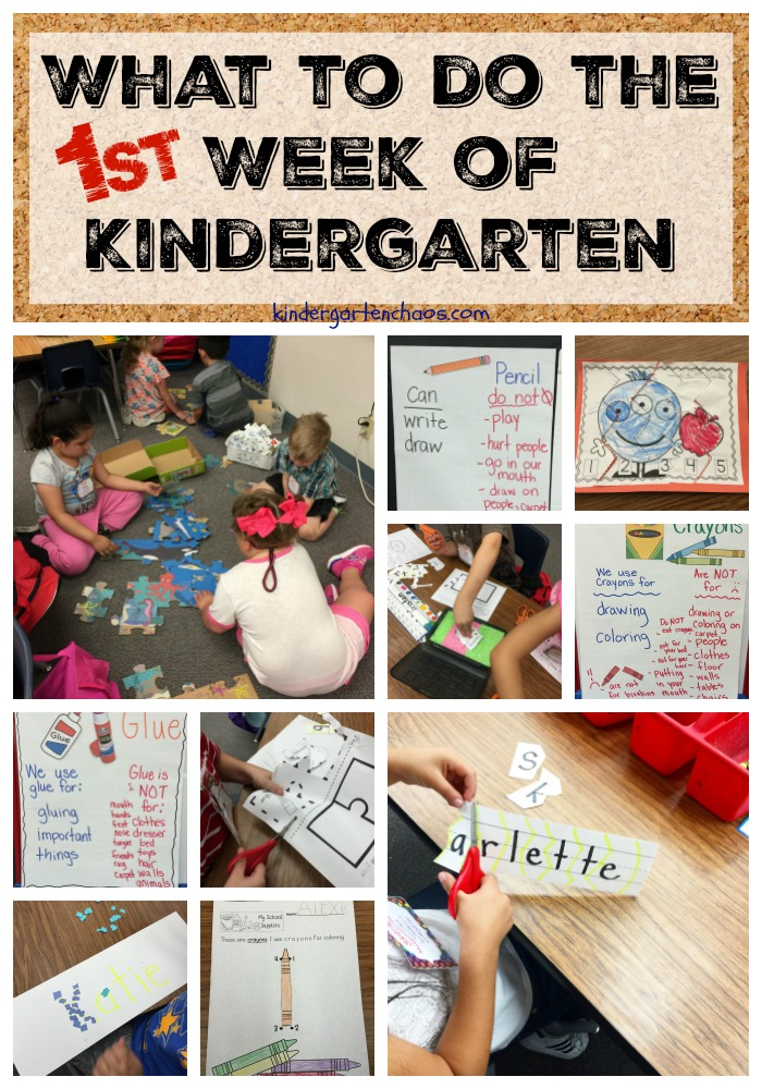 The First Week of Kindergarten - kindergartenchaos.com