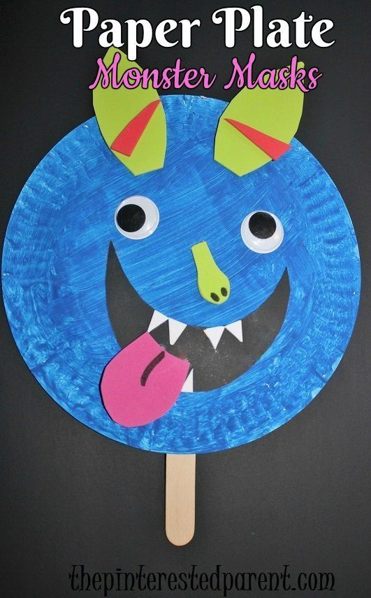paper-plate-monster-masks-for-halloween-kids-crafts