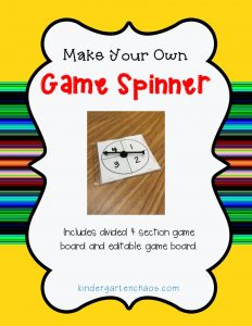 make your own interchangeable game spinner for the classroom. Black Bedroom Furniture Sets. Home Design Ideas