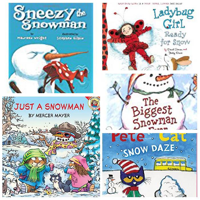 Snow and Snowman Books For Kindergarten Classroom