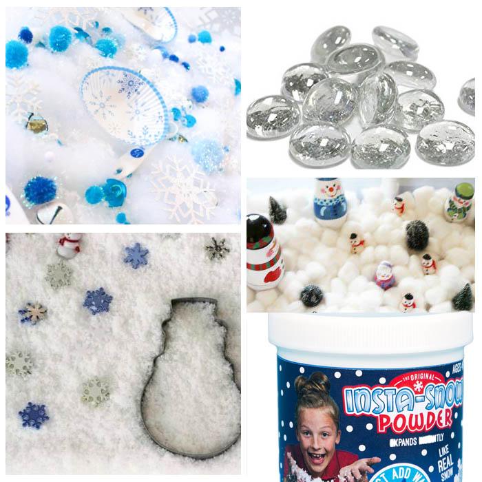 Snow & Snowman Sensory Bins
