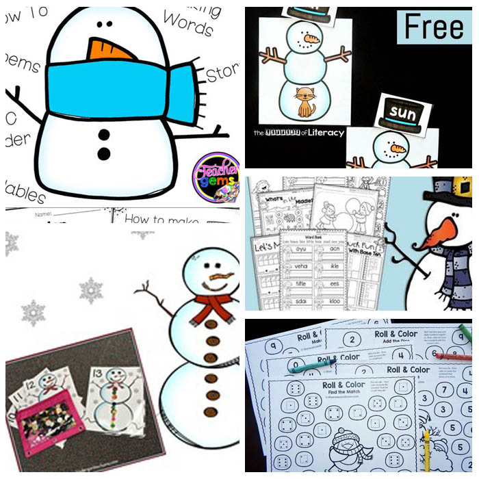 Snow and Snowman Printables
