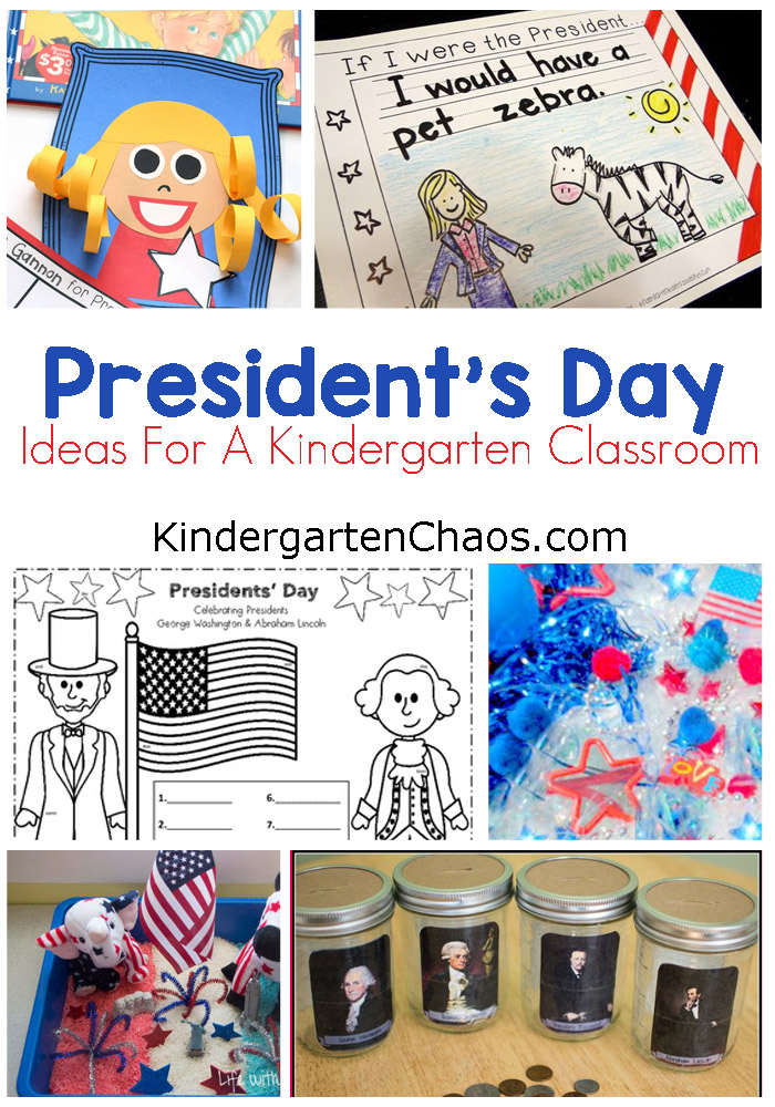 President's Day Ideas For Kindergarten Classroom: Books, Crafts, Sensory, Printables, Lesson Plans