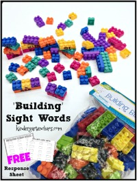 Building Sight Words FREEBIE – kindergarten chaos