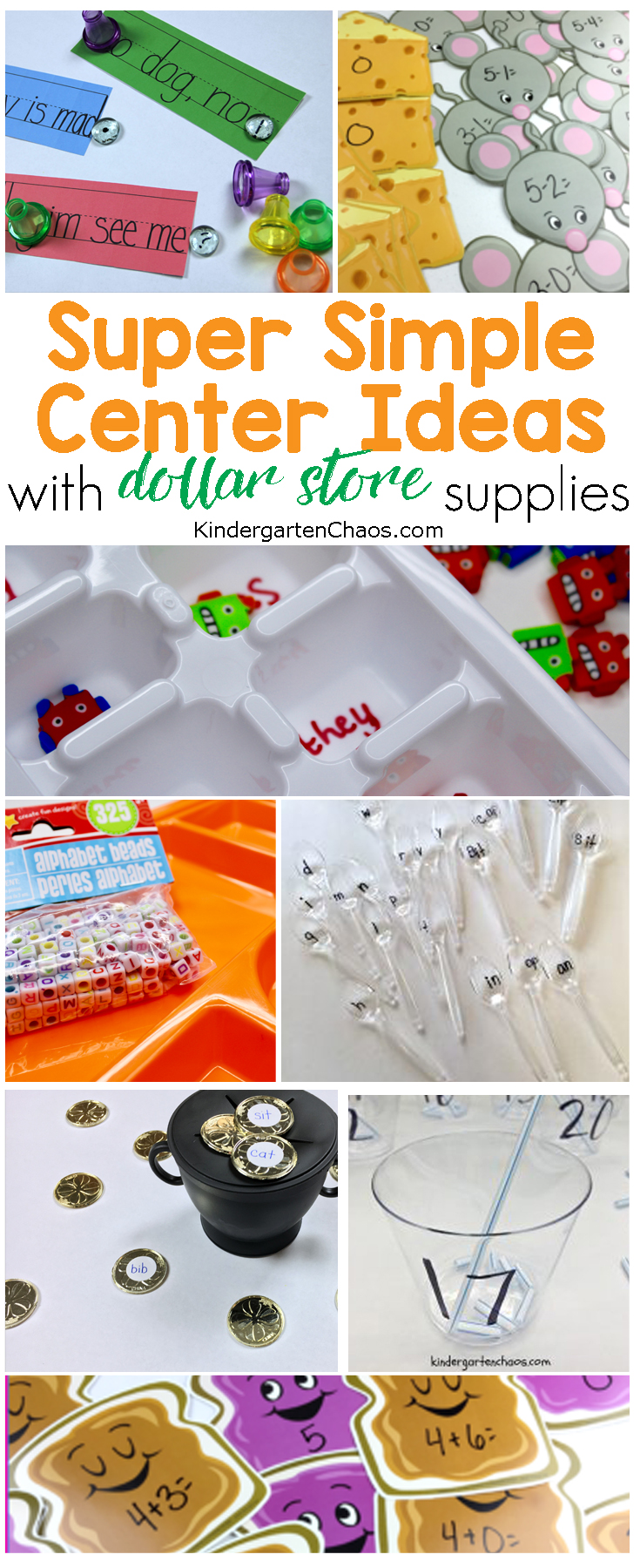 12+ Super Simple Center Ideas For Your Kindergarten Class All With Dollar Store Supplies!