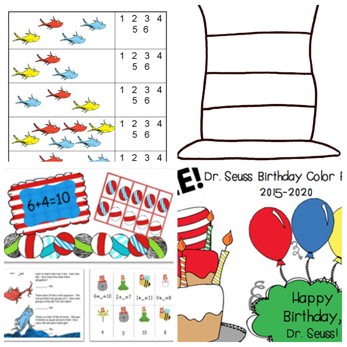Dr. Seuss Activities For The Kindergarten Classroom: Printables & Lesson Plans