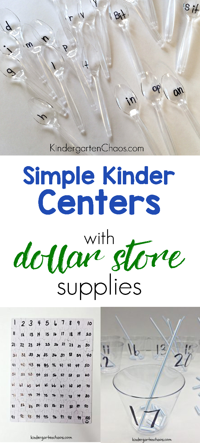 3 Simple Kindergarten Centers Created With Dollar Store Supplies