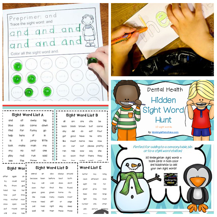 25+ Kindergarten Sight Word Activities: Printables