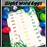 Teacher Hack: Easter Egg Sight Word Sensory Bin