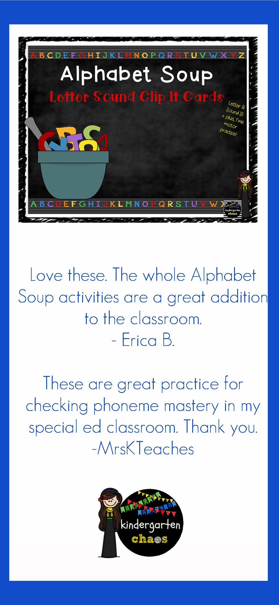 Alphabet Soup Letter Sound Clip It Cards are perfect for students just beginning to explore letter matches as well as students who need review.