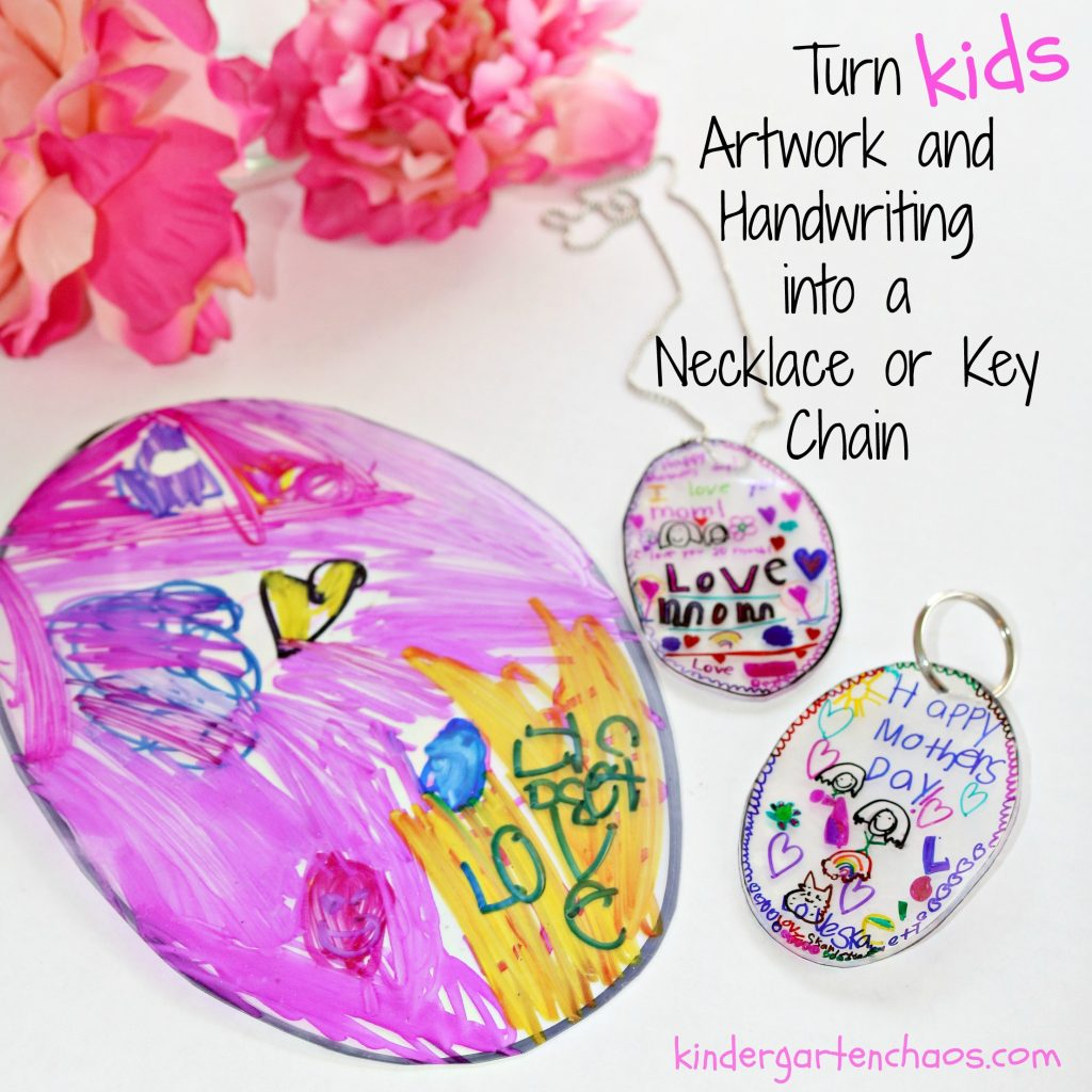 Kid Made Mother s Day Gifts  Necklace or Key Chain a5354f8b17