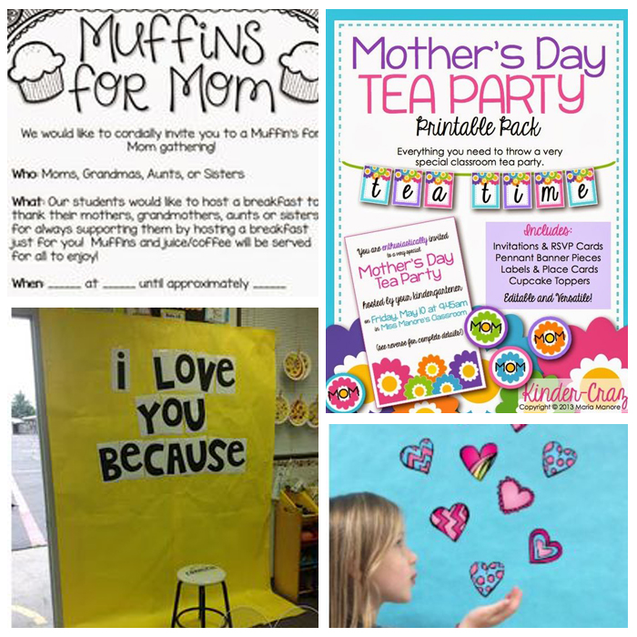 20+ Ideas For Mother's Day In The Classroom - DIY Gifts, Classroom Party Ideas, Books, Printables, Etc.