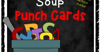Printable Alphabet Soup Letter Punch Cards