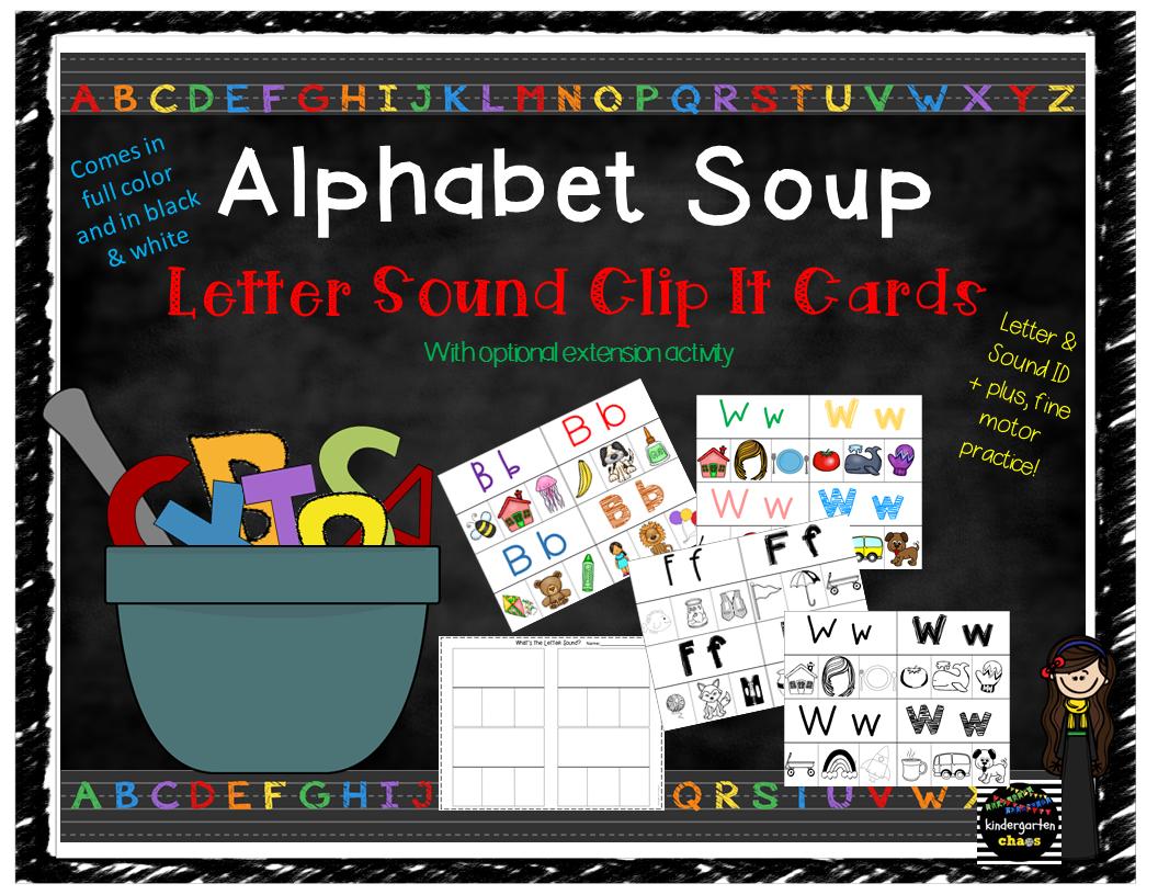 Alphabet Soup – Clip It Letter Sound Matching Cards