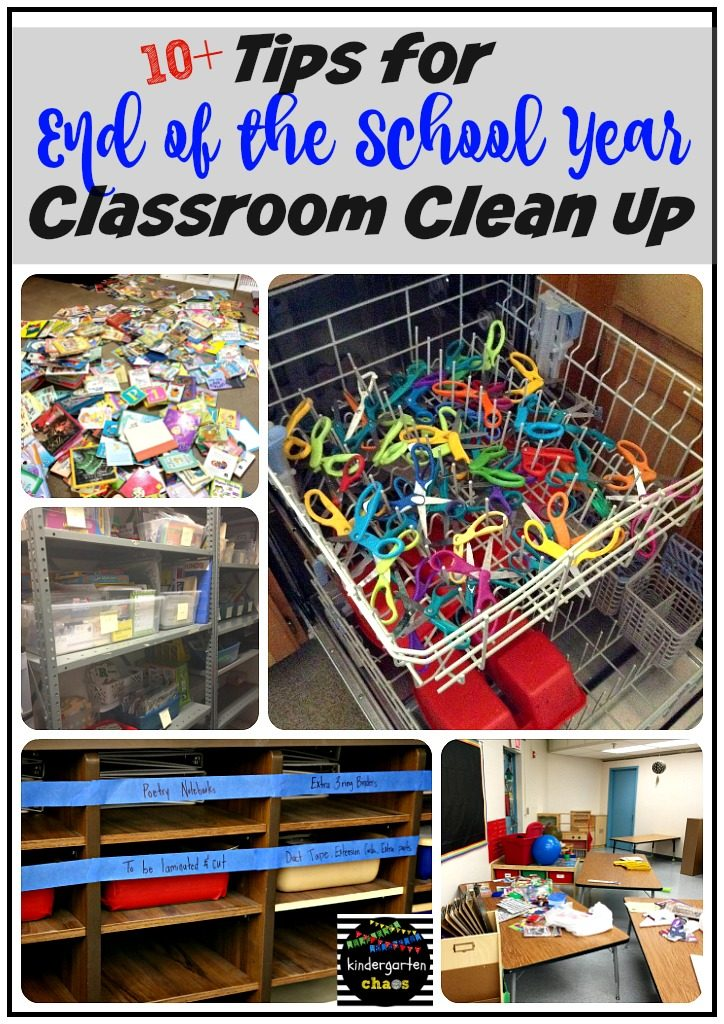 10+ Tips For The End Of The School Year Clean Up. When it's time to clean up your classroom before you can enjoy summer break, follow these tips and you'll be school free in no time!