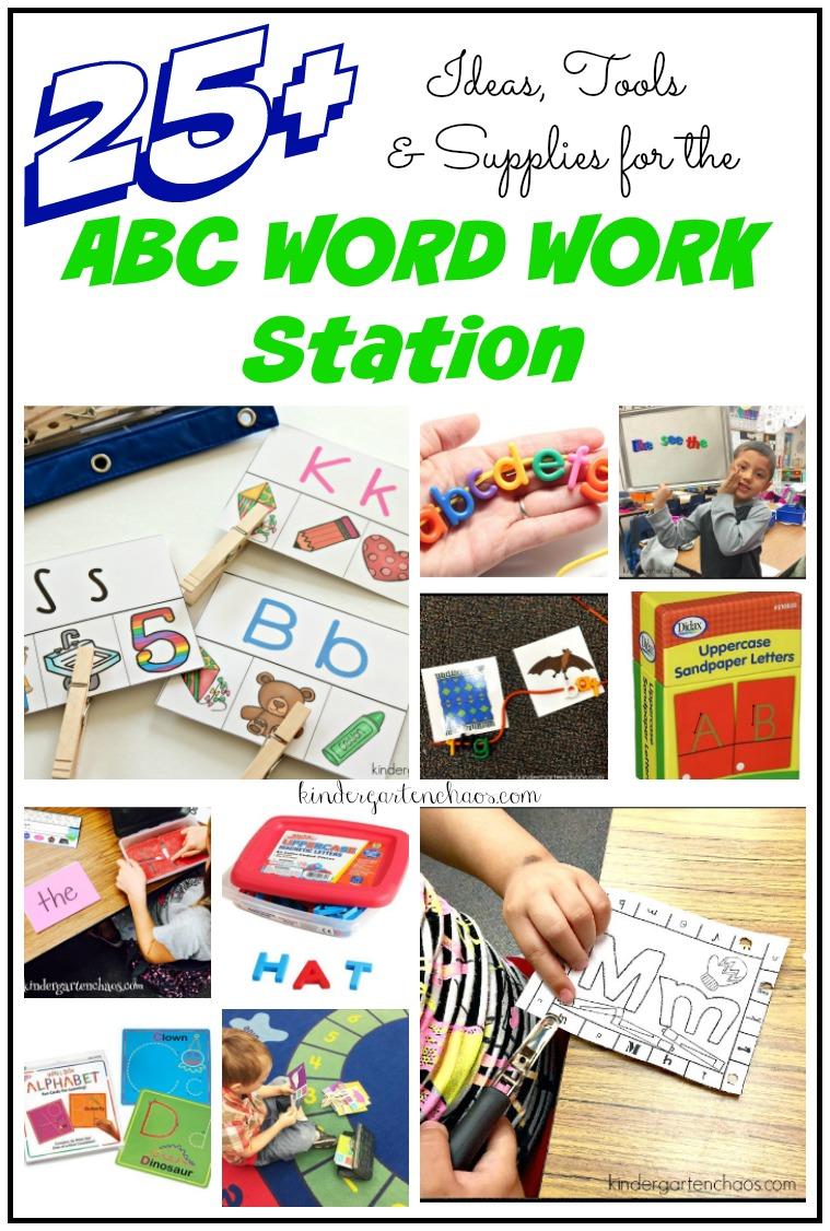 Teaching Kindergartners to Use the ABC Word Work Station