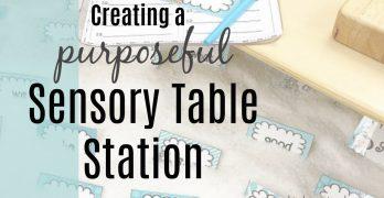 Creating a Purposeful Sensory Table Station