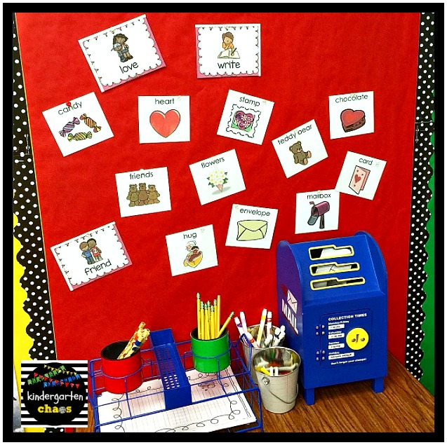 This Is Snapshot Of My Writing Station In February There Are Themed Word Cards Paper And Even A Mailbox To Mail Letters Friends Our