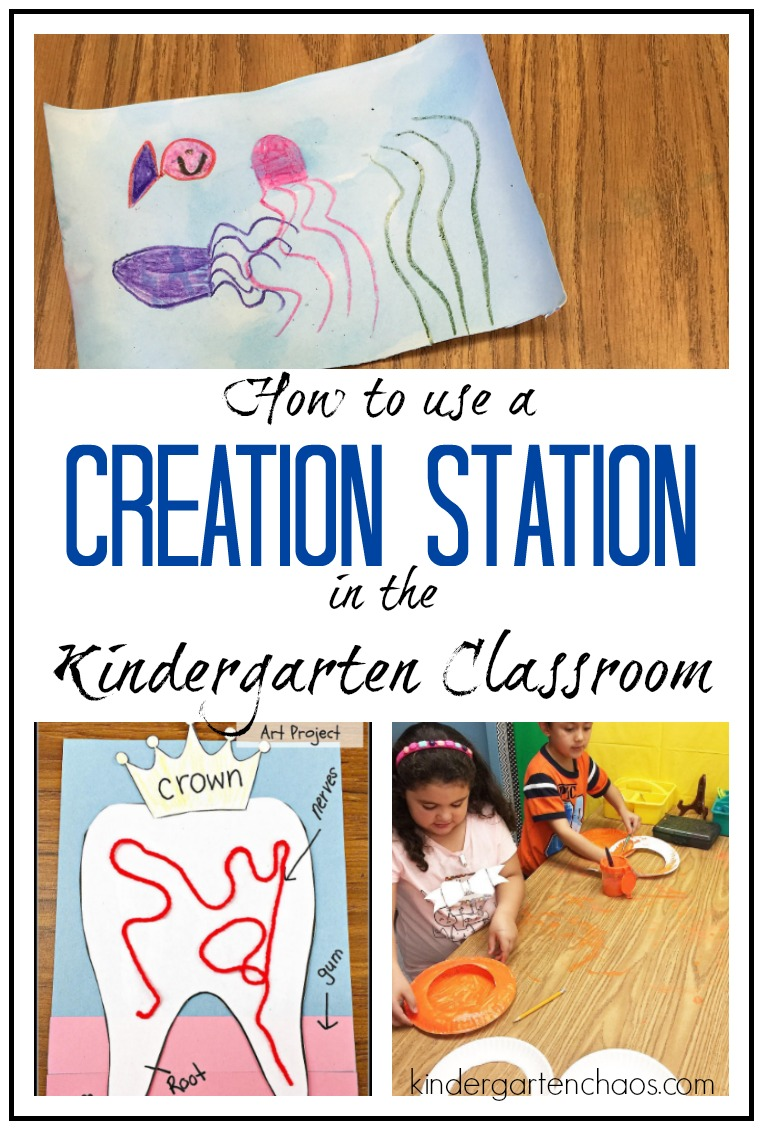 What Does The Creation Station Look Like In The Kindergarten Classroom