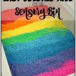 Easy to Make Rainbow Rice for the Sensory Bin