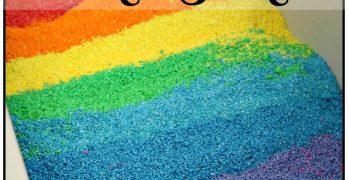 Easy to Make Rainbow Rice for the Sensory Bin