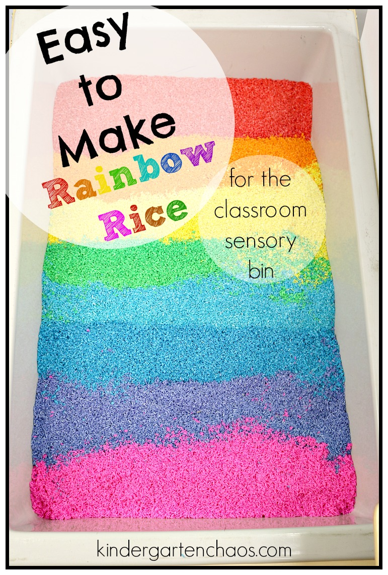 How To Make Rainbow Rice For Your Sensory Bin