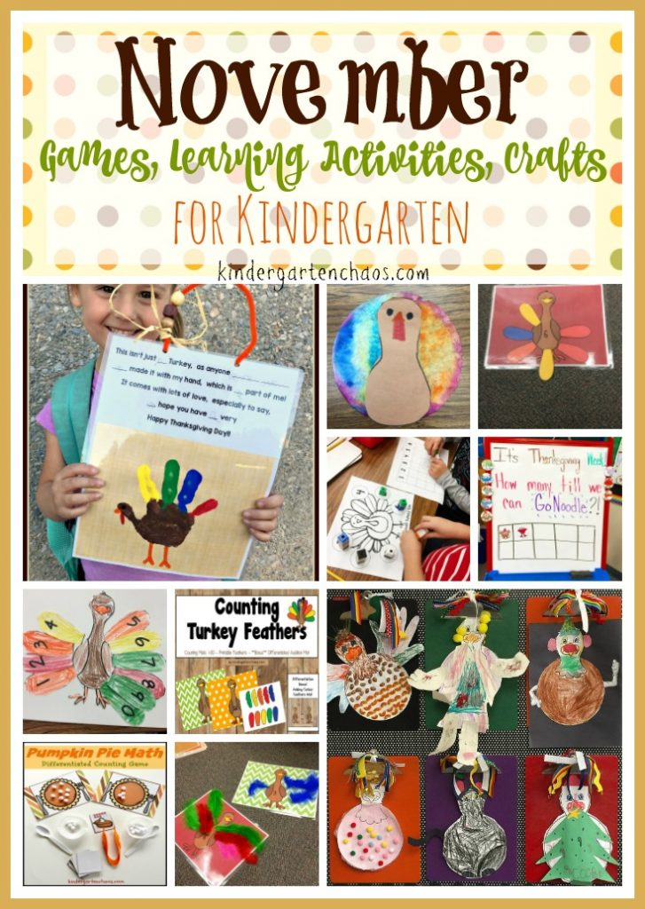 November and thanksgiving activities for kindergarten for November crafts for kindergarten